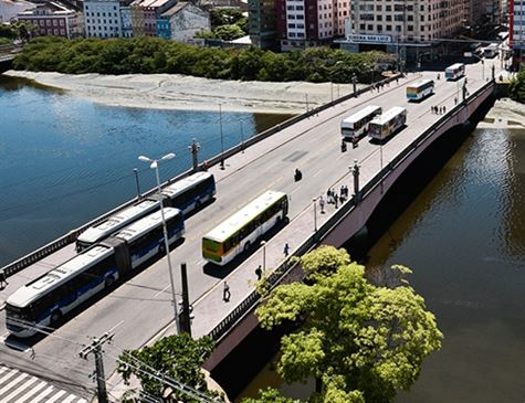 Começa nesta terça mudança de itinerário de 162 linhas de ônibus na ponte Duarte Coelho