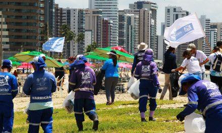 Jaboatão comemora Dia Mundial da Água com grande mutirão de limpeza da orla e nascimento de filhotes de tartaruga marinha
